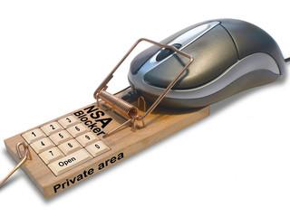 Mausefalle  mit Mouse und Passworteingabe. Freisteller