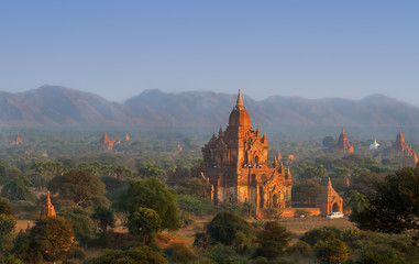 Brick temples in Bagan, Myanmar