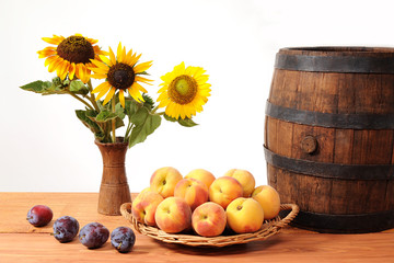Fruits and flowers barrel