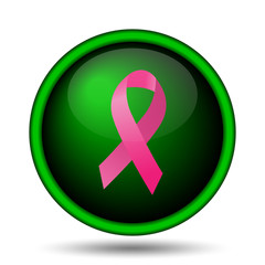 Breast cancer ribbon icon