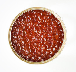 Can of red caviar