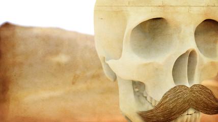 Skull Grounge Mustache