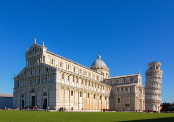 Pisa with the Basilica and the leaning tower.