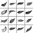 Wings design elements vector illustration - 67905026
