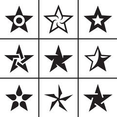 Stars icons set vector illustration