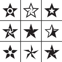 Stars icons set vector illustration