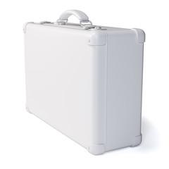 White suitcase. Isolated on white background
