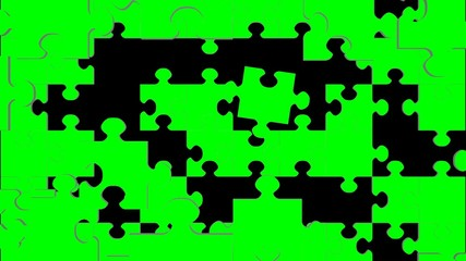 Jigswaw Puzzle Green Screen Transition