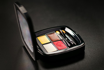 Compact with modern eye shadow colors