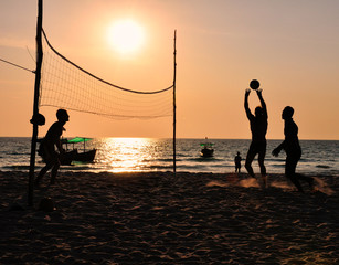 Koh Rong Volleyballmatch