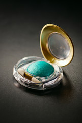Colorful modern green eye shadow