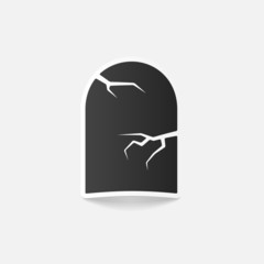 realistic design element: tombstone