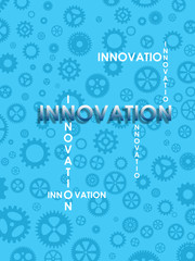 Innovation on blue background