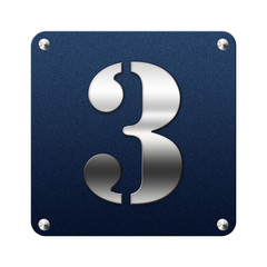 Icone en tissu 3 argent