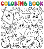 Coloring book with three kites - 67907221