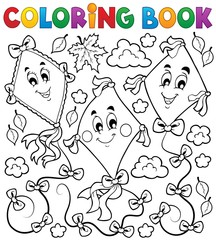 Coloring book with three kites