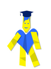 Illustration of heart man graduate