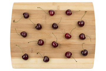 Cherry on a cutting board