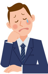 businessman   cry