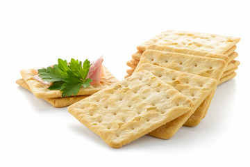 Crackers with Ham