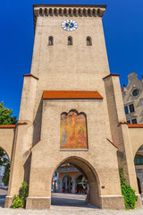 The Isartor gate of the medieval city wall in Munich, Germany