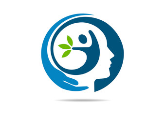 brain  mental health logo abstract body mind healthy