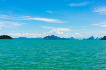Small islands seascape panorama in Thailand