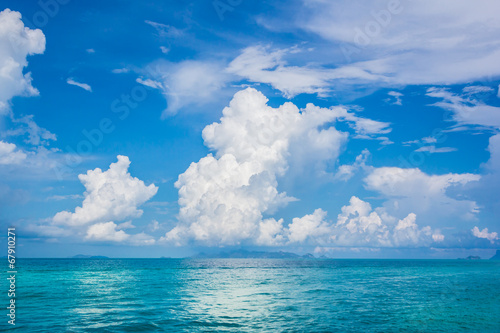 Cloud sky sea blue