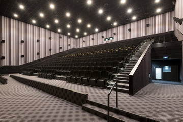Modern cinema hall