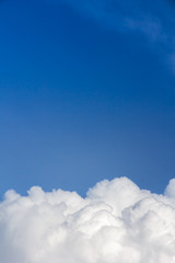above cloud blue sky background only