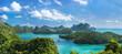 Leinwanddruck Bild - Bird eye view of Sea Thailand, Mu Ko Ang Thong island National P
