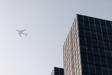 modern buildings and aircraft