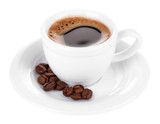 Fototapety Cup of coffee isolated on white