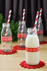 Mini milk bottle glass
