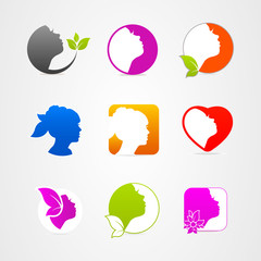 Graphics design icon face set