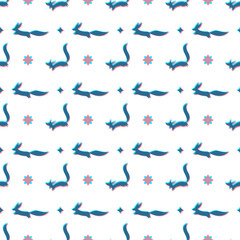 fox pattern 3d effect