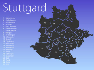 Landkarte Stuttgard
