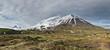 Kamchatka panorama mountain landscape: Oval Zimina Volcano
