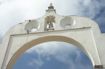 Spanish arch to the city of Merida, Mexico