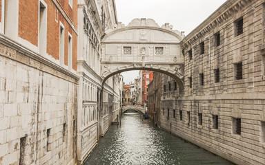Venedig, historische Altstadt, Brücke, Kanal, Frühling, Italien