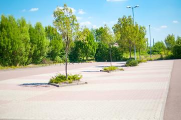 Parkplatz leer