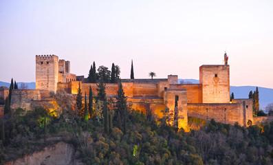 Alhambra in Granada, Alcazaba, Andalusia, Spain