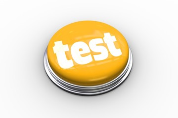 Test on shiny yellow push button