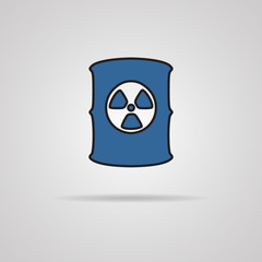 Radioactive waste barrel.