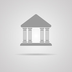 Bank, vector icon