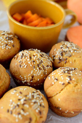 Sweet potato (batata) buns