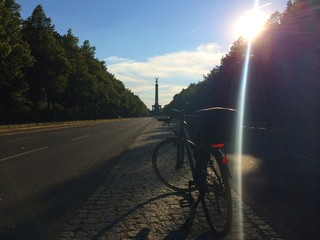 Siegessäule mit Fahrrad