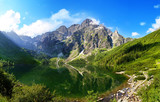 Fototapety Eye of the Sea lake in Tatra mountains, Poland