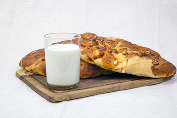 pita bread with milk