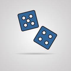Vector dices icon